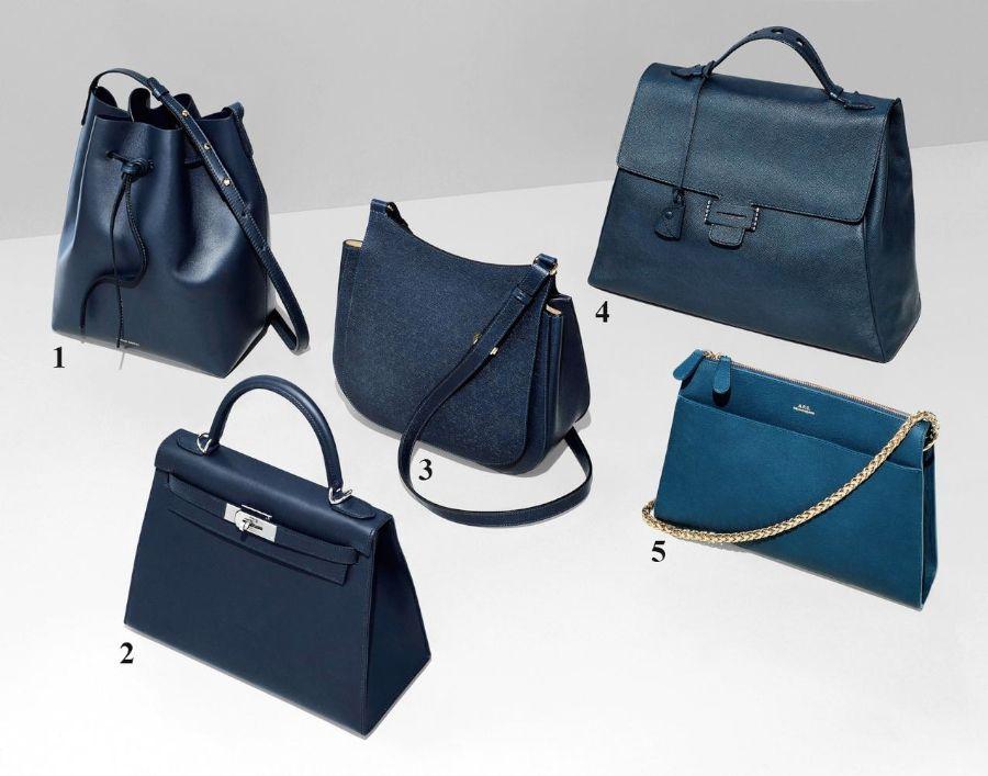 7649d7f504e5 Mansur Gavriel s Bucket Bag  2. Hermès s Kelly II Sellier 28  3. The Row s  Hunting Bag  4. Myriam Schaefer s Byron Bag  5. A.P.C. s Edith Bag PHOTO   JAMIE ...