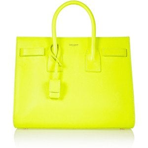 yves saint laurent yellow baby sac de jour tote