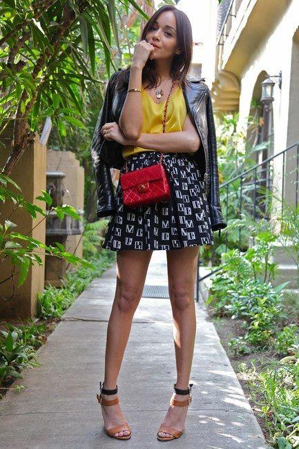 Ashley Madekwe Red Chanel Mini Bag Jpg