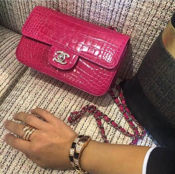 pink chanel mini