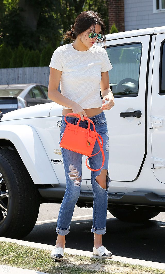 Kendall Jenner LOVES Saint Laurent Sac De Jour - PurseBop