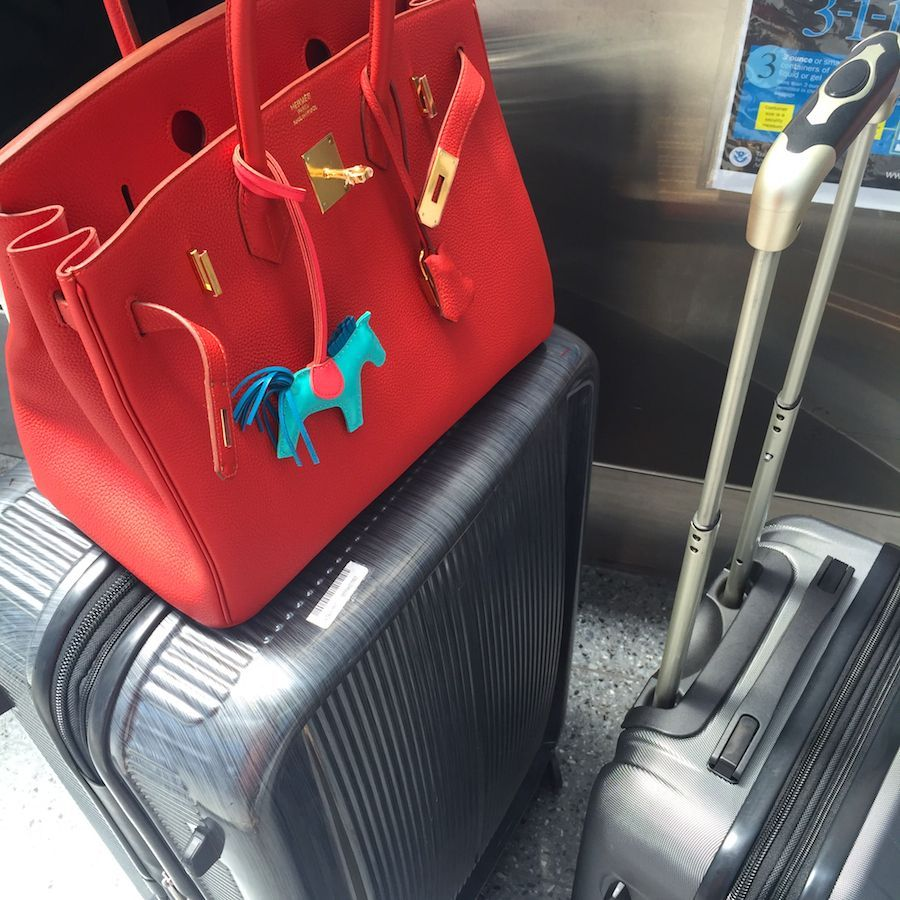 Miss Vermillion B takes her maiden voyage as she boards a 15 hour non-stop flight to the other side of the world!  Certainly no 'admiration phase' this time...