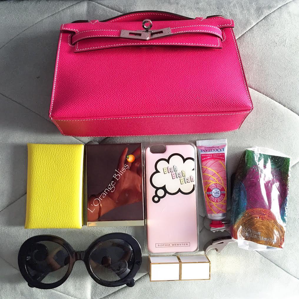 hermes kelly rouge h bag kelly cut clutch pochette gold hardware