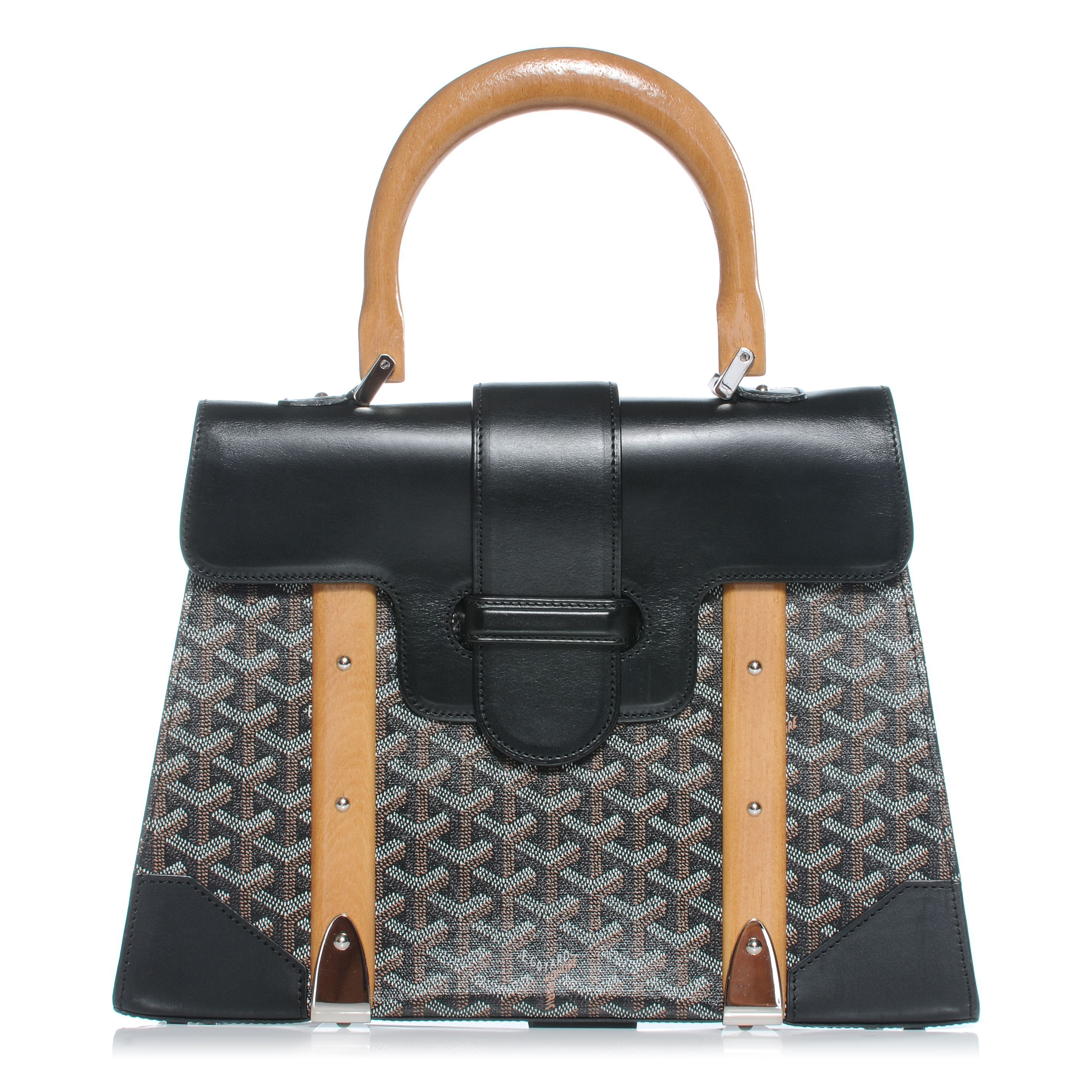 The Goyard Saigon Bag Is A Very Vintage Looking Structured That We Can T Help But Think Resembles Hard Bod Hermes Kelly Or Delvaux Brillant
