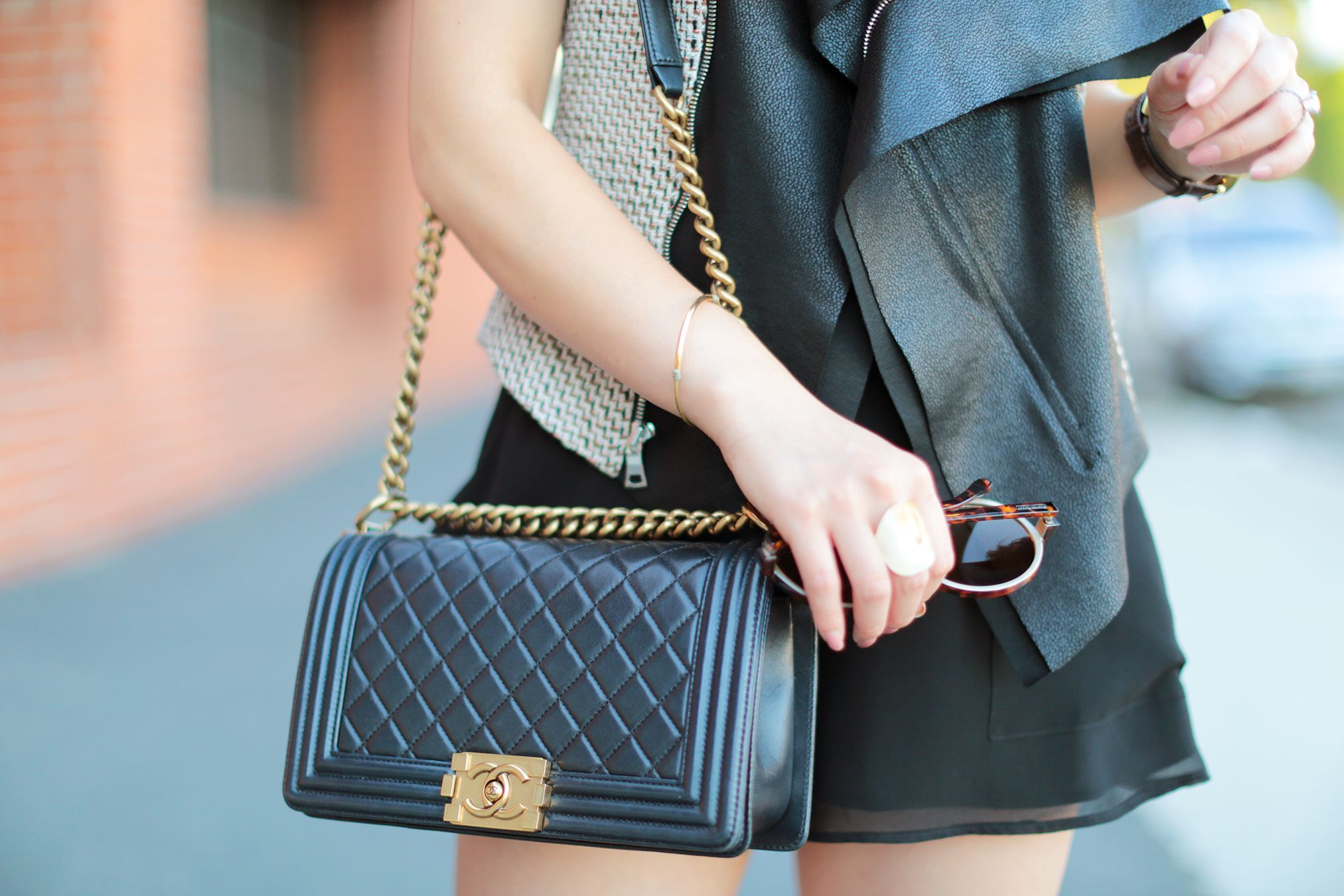 7d062bf824 Chanel Boy Bag Reference Guide - PurseBop
