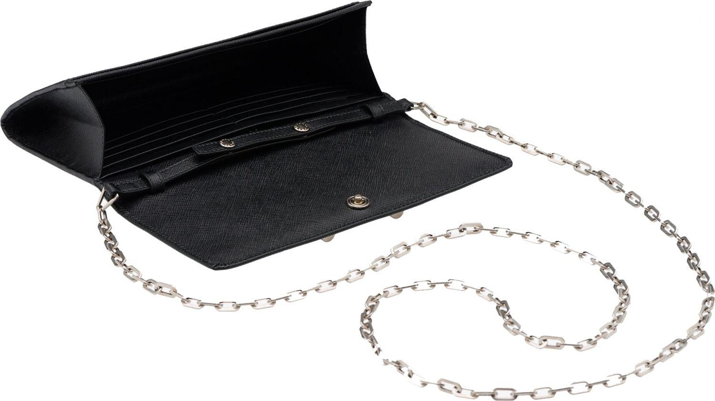 prada saffiano promenade handbag nero - WOC Wonder: Prada Saffiano Lock Leather Wallet on Chain - PurseBop