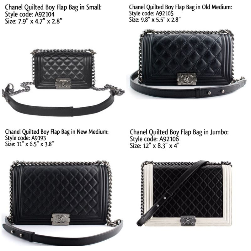 chanel boy bag reference guide pursebop