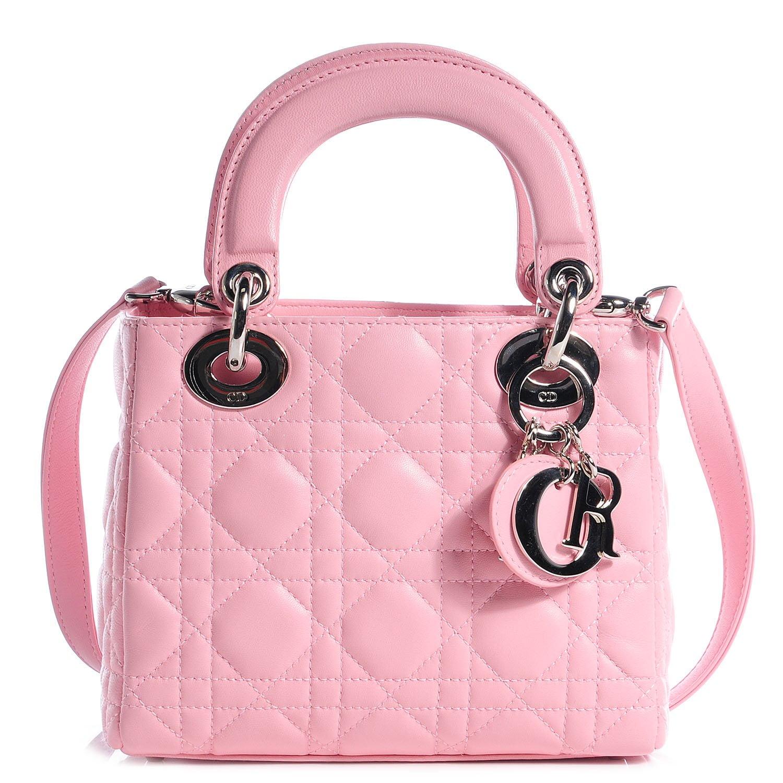 BD77921-CHRISTIAN-DIOR-Lambskin-Cannage-Mini-Lady-Dior-Rose-Clair-0