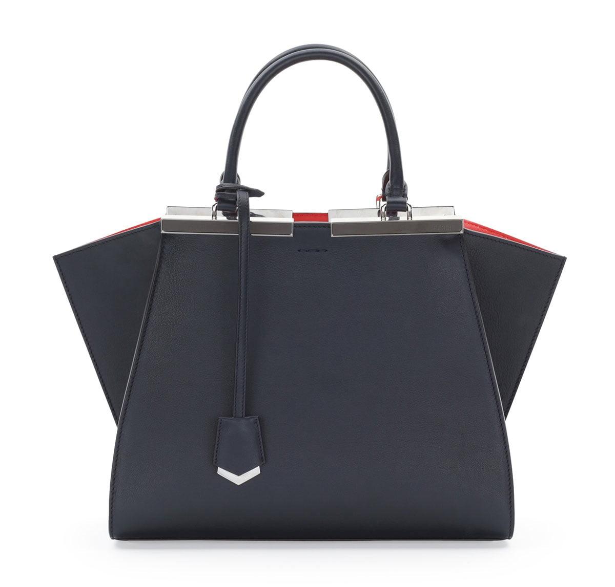 Fendi-NavyOrange-3Jours-Mini-Bag