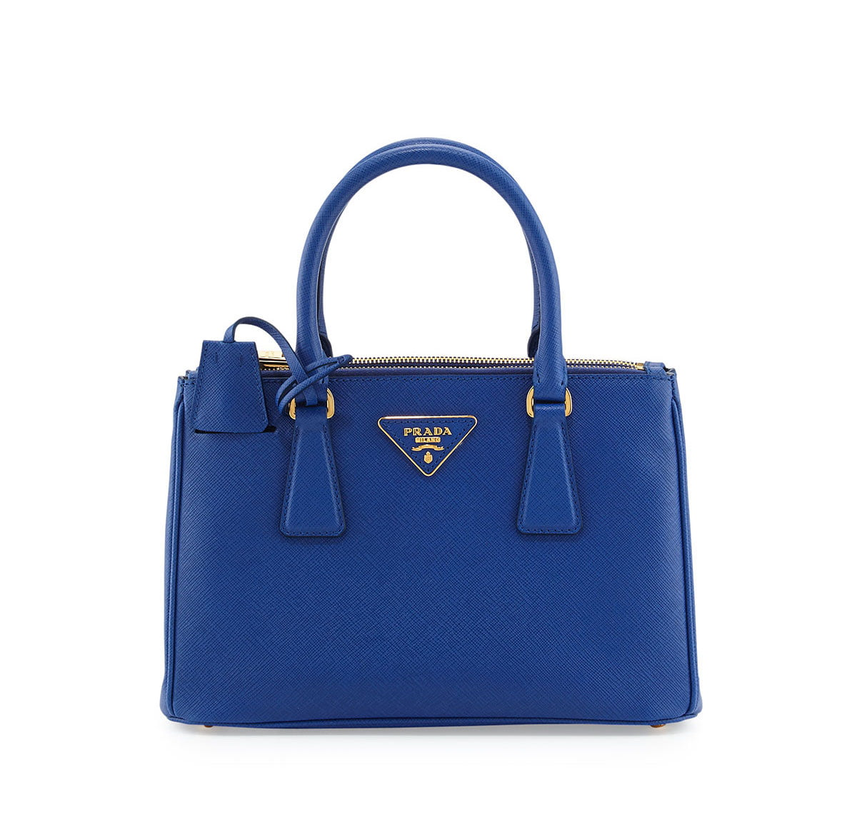 Prada-Blue-Saffiano-Double-Zip-Mini-Crossbody-Bag