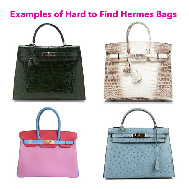 examples of hard to find hermes bags