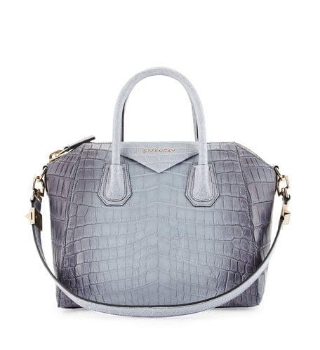 a3b3a048f7 Givenchy Antigona Small Crocodile Bag via Neiman Marcus