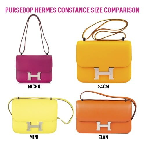 The Elan Is Slightly Longer And Narrower Less Square Compared To Other 3 Sizes Constance 23 25 29 Have Been Discontinued By Hermes