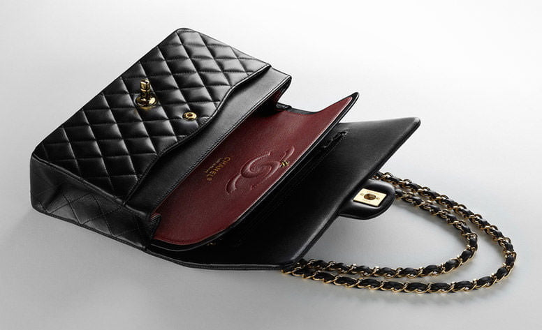 Chanel wallet on a chain inside