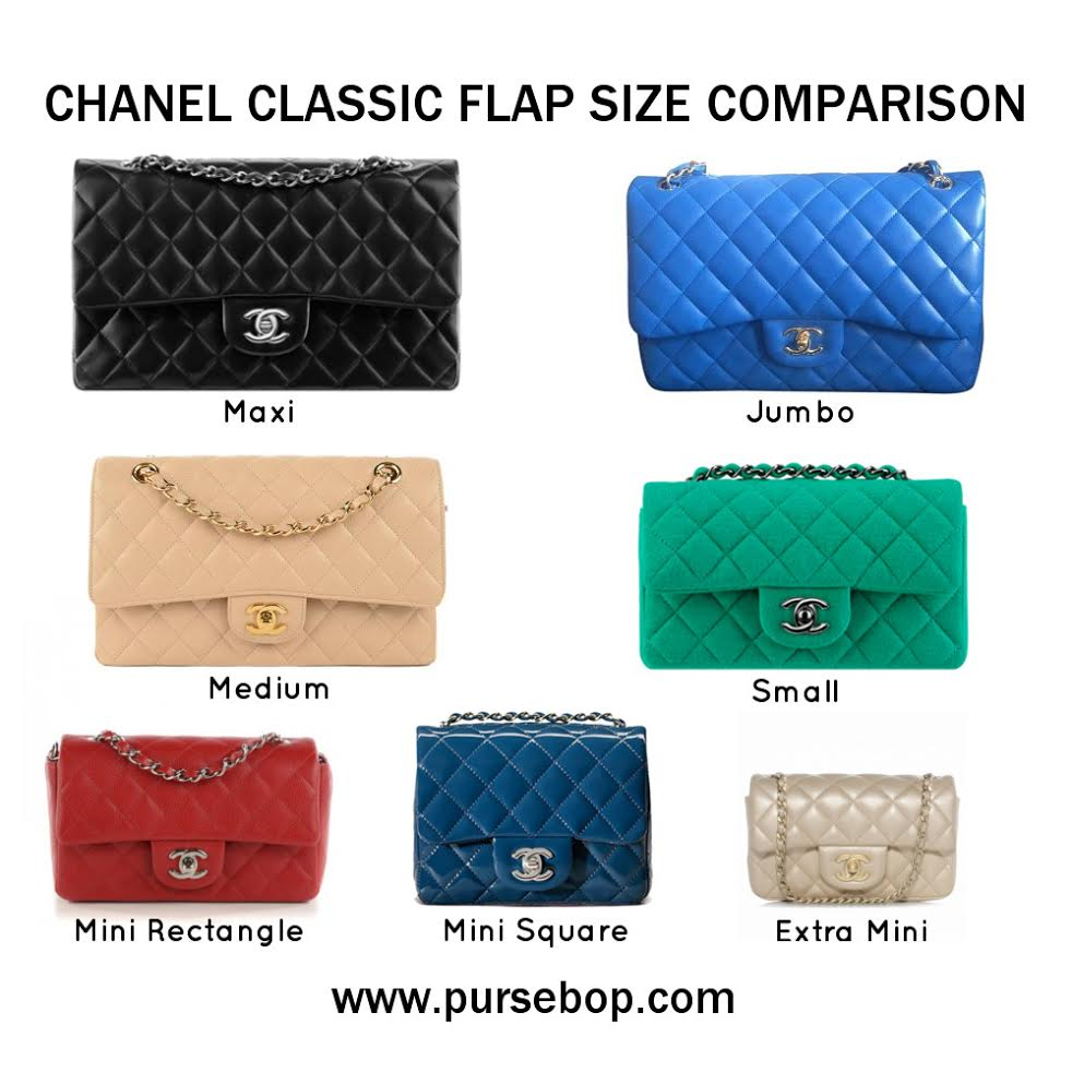 6d9b22f620e The Chanel Poll  Tell Us Your Favorites! - PurseBop. Chanel Classic Flap  Size Comparison - PurseBop. Chanel Shoulder Bags ...