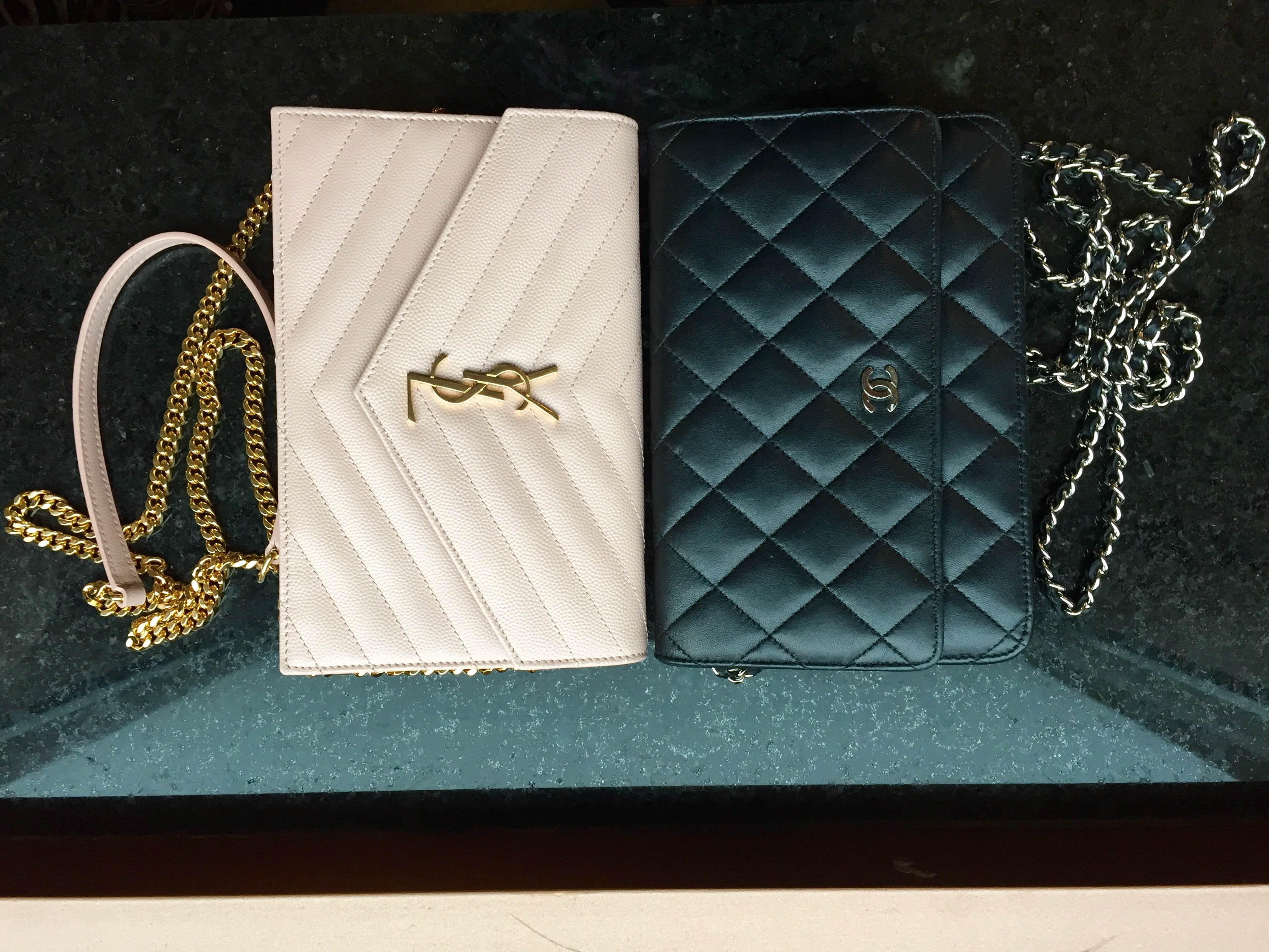 0c7f2c9119c9 Chanel vs. YSL Wallet on Chain Comparison (WOC) - PurseBop