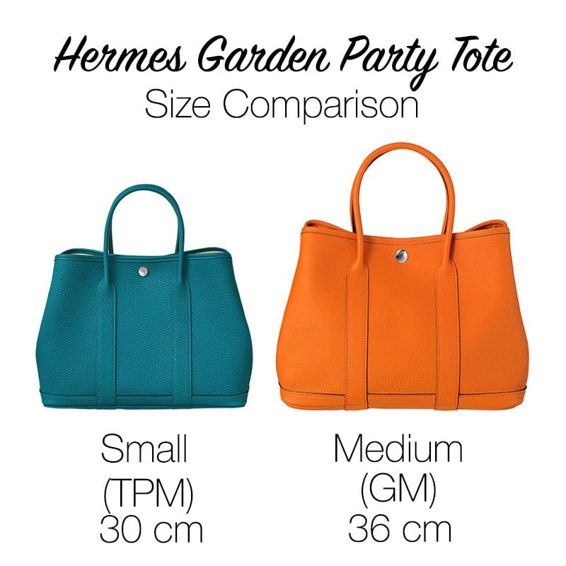Hermes Garden Party Size