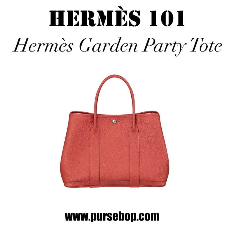 Hermes 101 Hermes Garden Party Tote PurseBop
