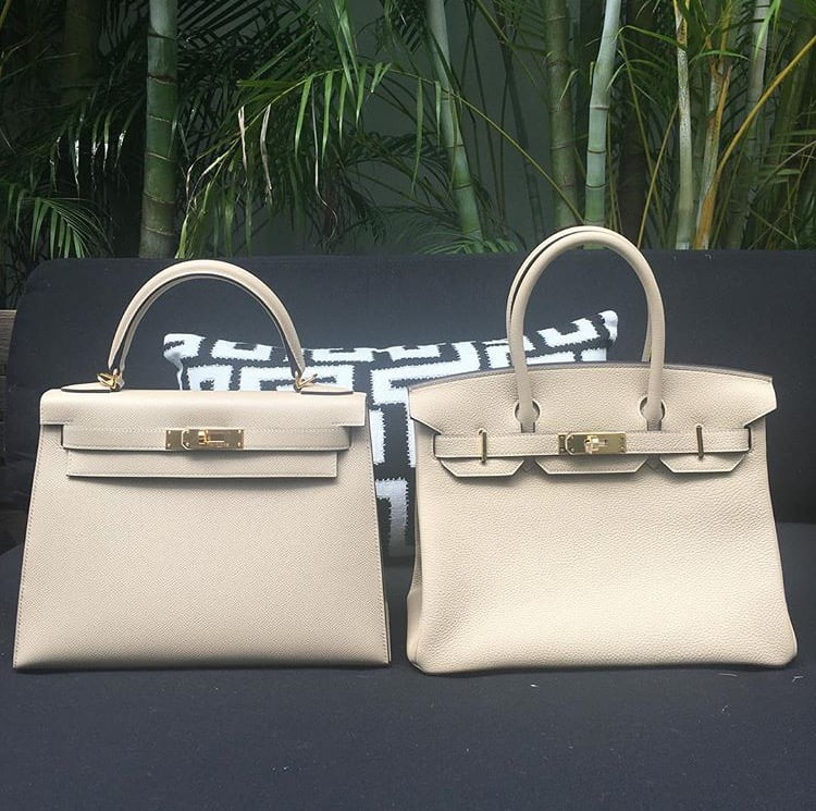9d2eff1cb8 From L to R: Trench Kelly Sellier 28 and Trench Birkin 30 – @priveporter