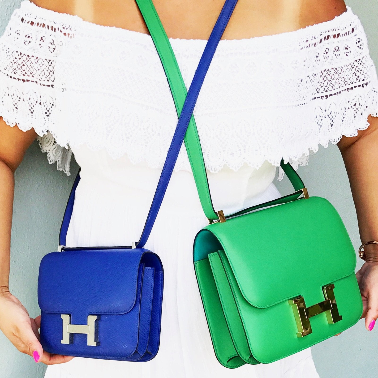 The Lucky Hermes Constance Pursebop