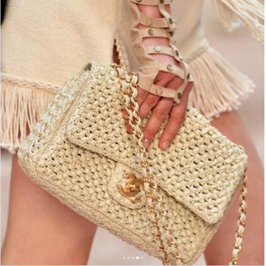 Chanel-Beige-Woven-Flap-Bag-Cruise-2018