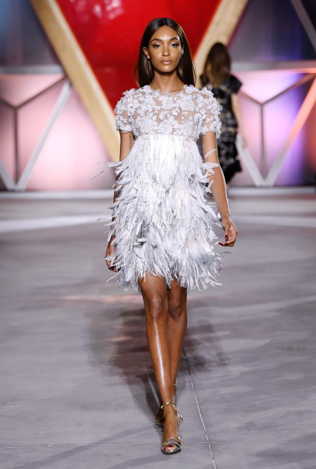 Jourdan Dunn on the catwalk. Photo courtesy: The Sun
