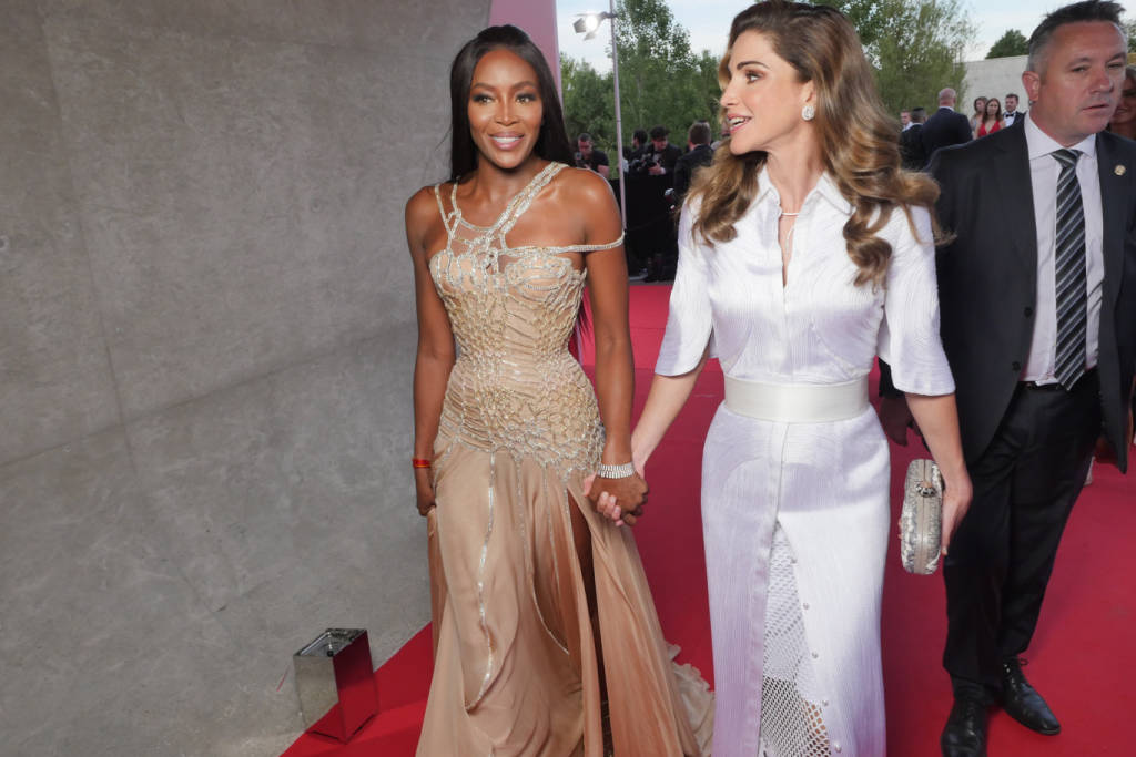 Naomi Campbell and Queen Rania. Photo courtesy: WWD