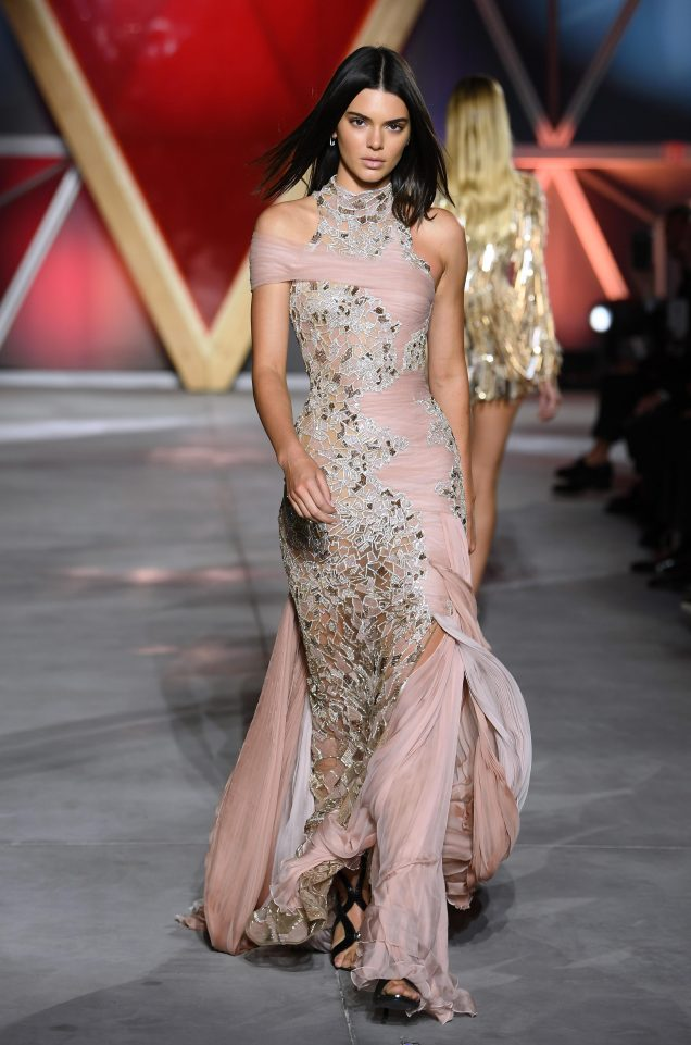 Kendall Jenner on the catwalk. Photo courtesy: The Sun