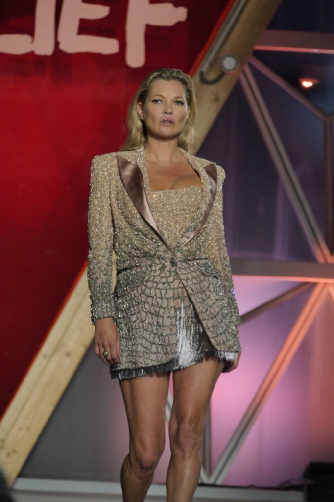 Kate Moss on the catwalk. Photo courtesy: WWD