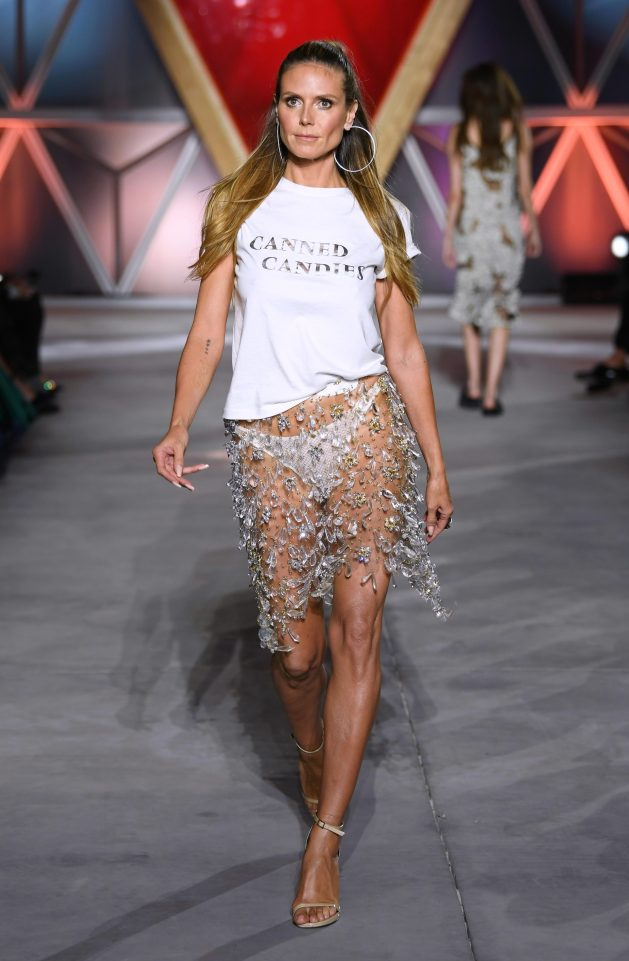 Heidi Klum on the catwalk. Photo courtesy: The Sun