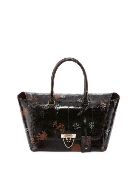 valentino snakeskin satchel