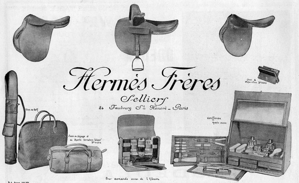 Hermès advertisement, 1923. Photo source unknown.