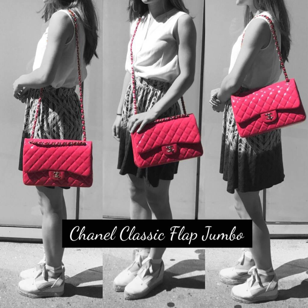 a58d8ba7d9e9 Chanel Classic Flap Jumbo. Model 1. Processed with MOLDIV. Model 2