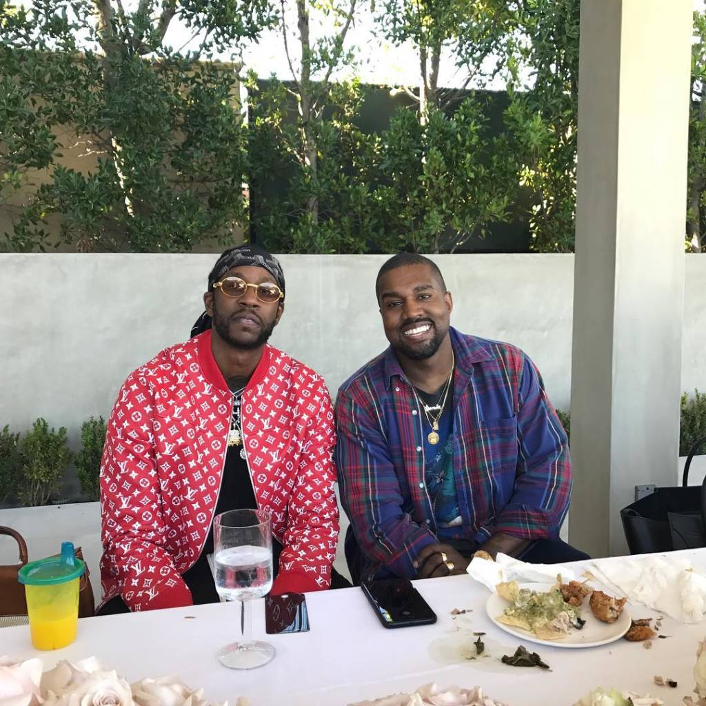 2 Chainz (with Kanye West). Photo courtesy: @hairweavekiller