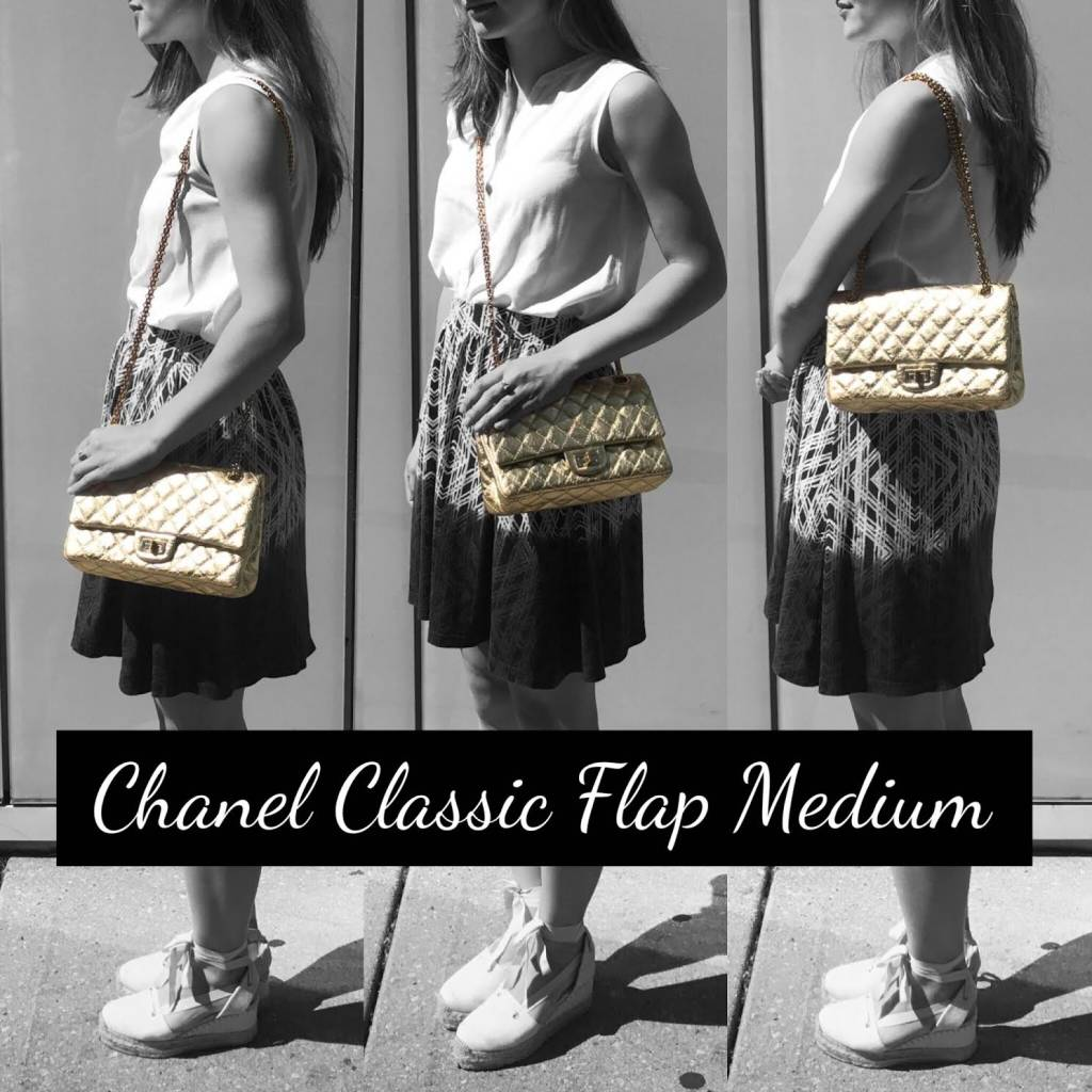 90cda4cabffc Chanel Classic Flap Size Comparison - PurseBop