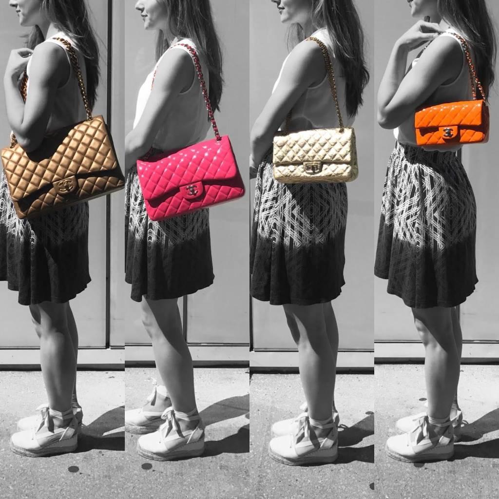 460cd044158b Chanel Classic Flap Size Comparison - PurseBop