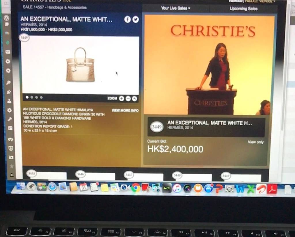 Hammer price was 2,400,00 Hong Kong dollars at the May Christie's Auction in Hong Kong. We stayed awake to see it live!