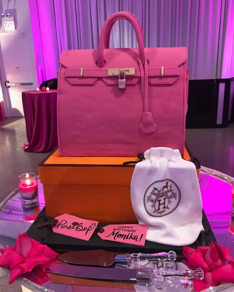 In keeping with one of my favorite self-created birthday traditions—what I humbly call #pursebopsbirthdaybirkin—this year I was presented with a customary Birkin bag. But even more, my cake was about as close as one could possibly get to an edible Birkin 35 in bubblegum pink!
