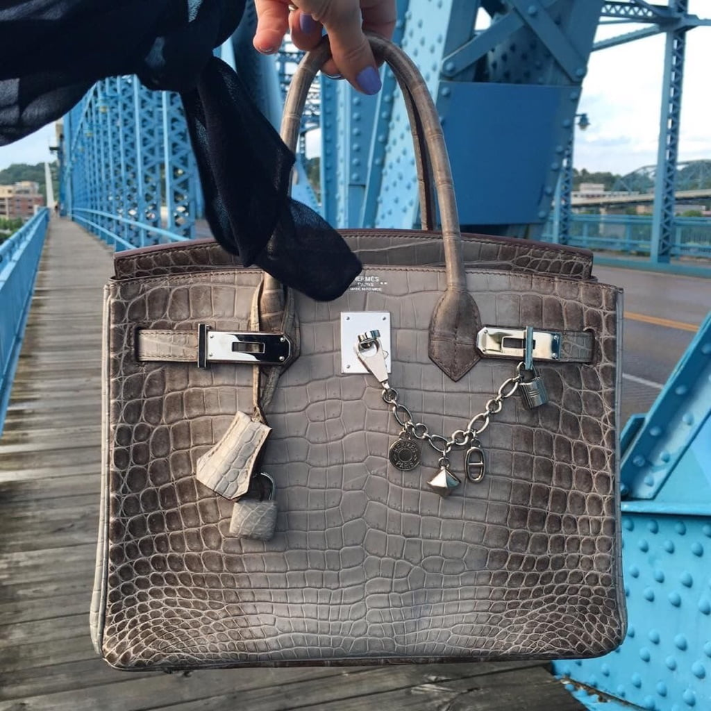 """""""My Gris Cendre Himalayan Birkin 30 …even with it's blue ink stains from Hawaii is my very favorite"""", says @swedishandstylish."""