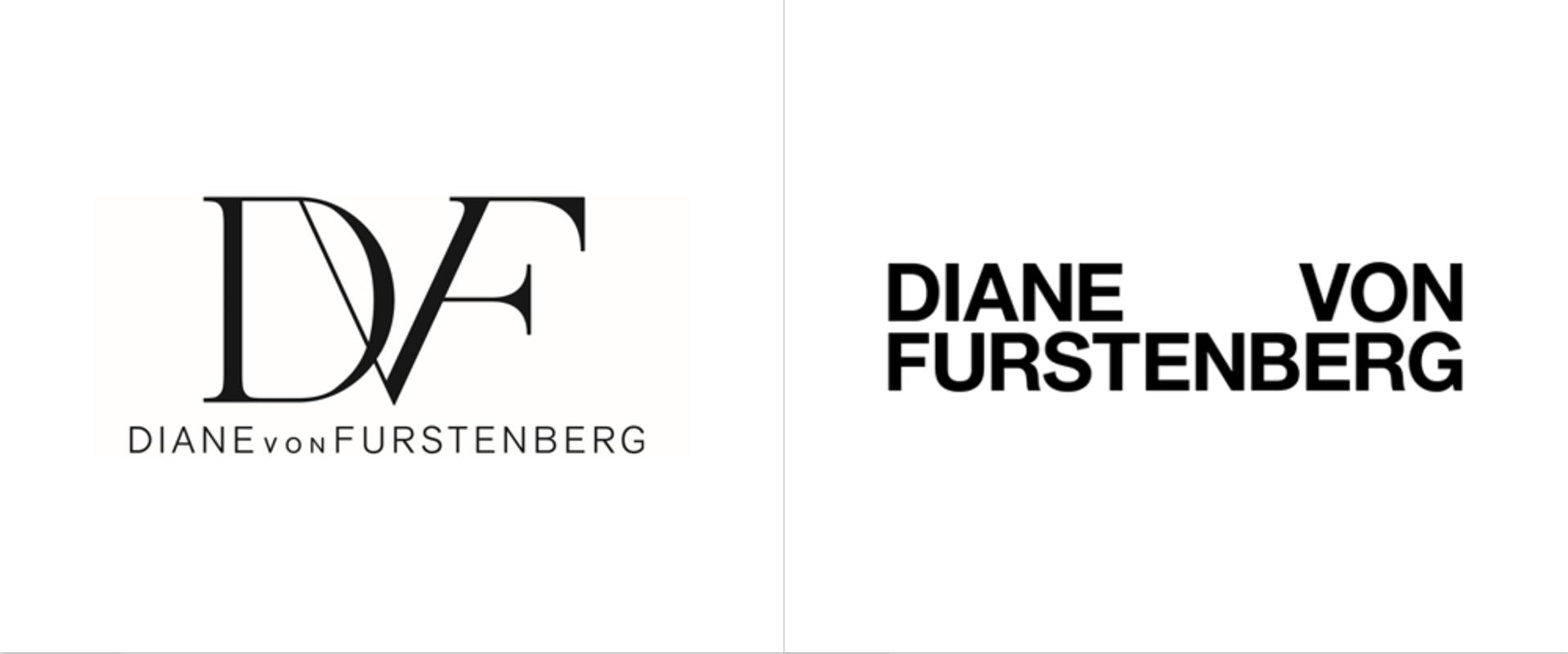 Diane von Furstenberg: Old vs. New Logo. Photo courtesy: Jonny Lu Studio