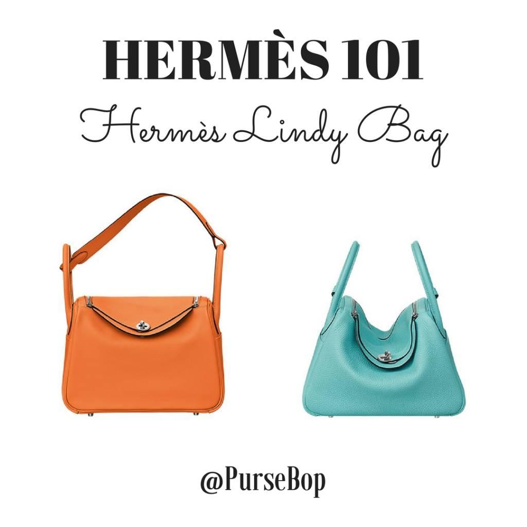 ddb8b480623a Hermès 101  Hermès Lindy Bag - PurseBop