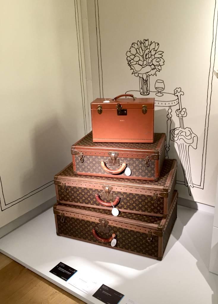 Audrey Hepburn's LV trunks.