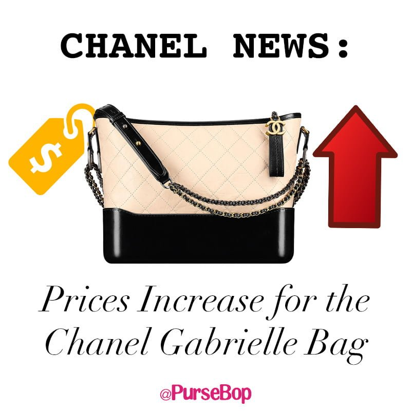 07fe6a7ec22872 Chanel Price Increase 2018: Gabrielle and Coco - PurseBop