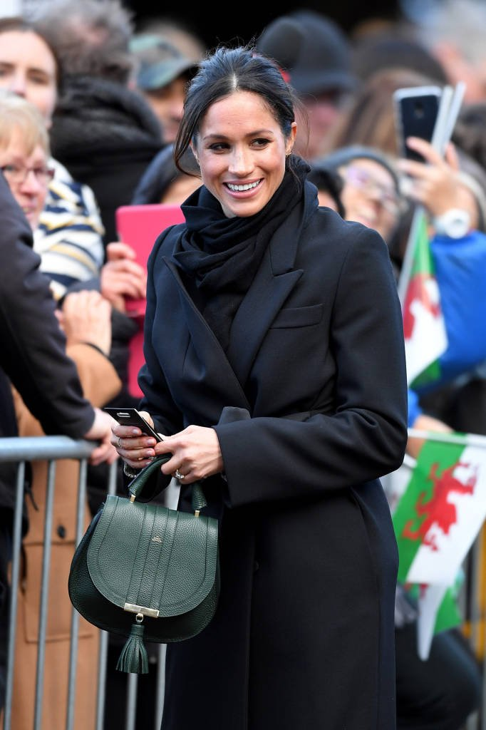 Markle in Wales in January 2018