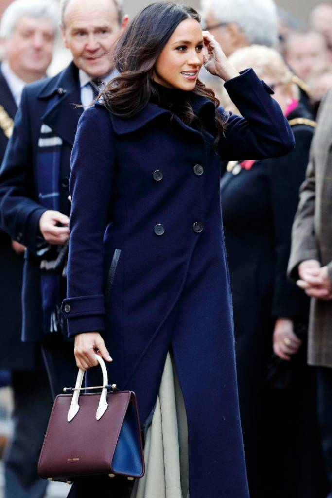 Markle in December 2017, in her first official appearance with Prince Harry since their engagement