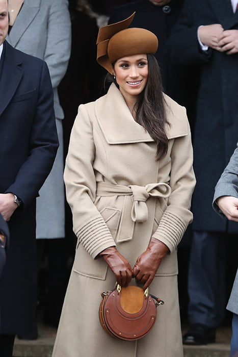 Meghan Markle at the royal family's 2017 Christmas service