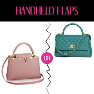 LV vs Chanel Handheld Flaps