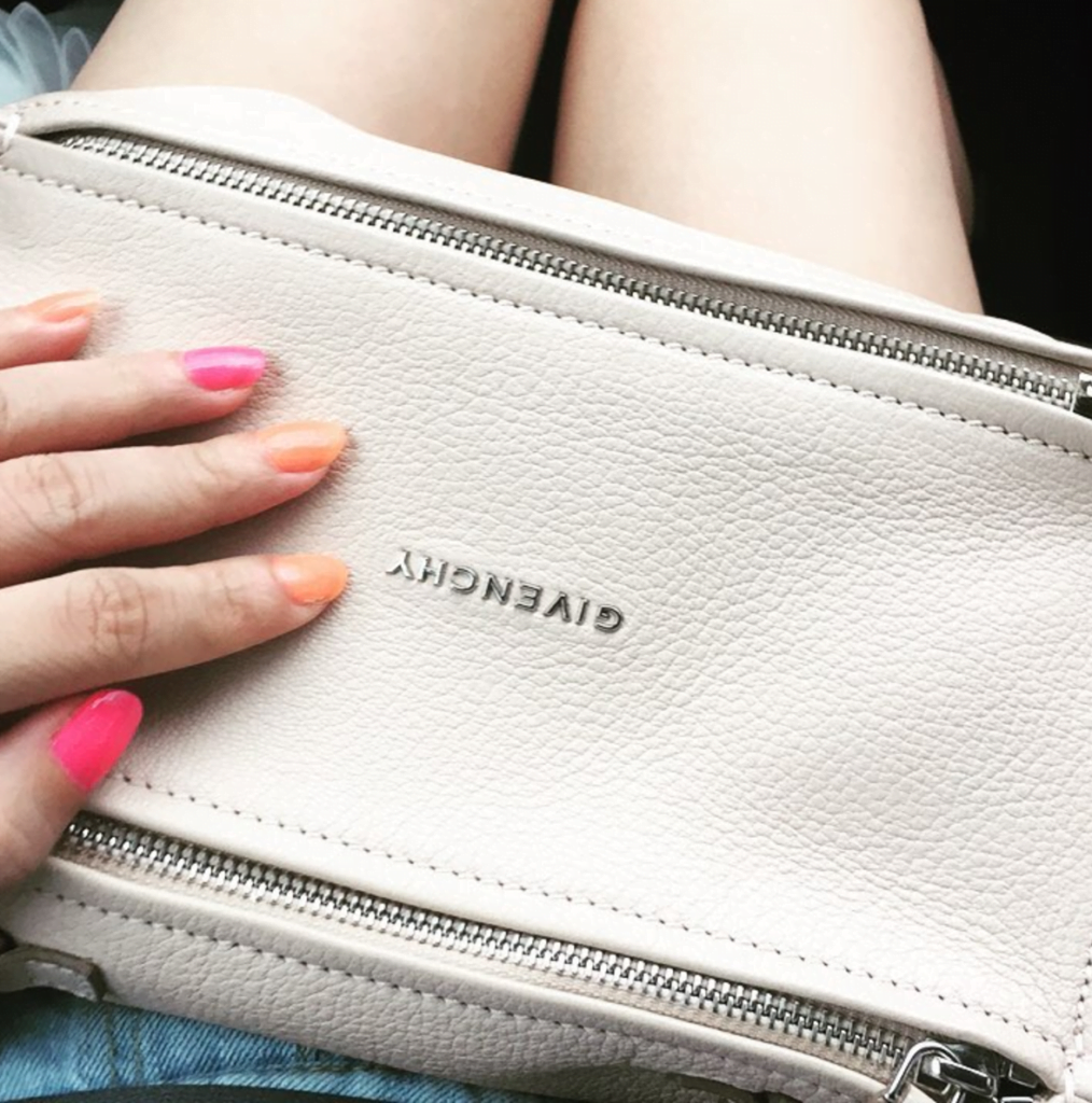 Givenchy mini pandora white luxury handbag