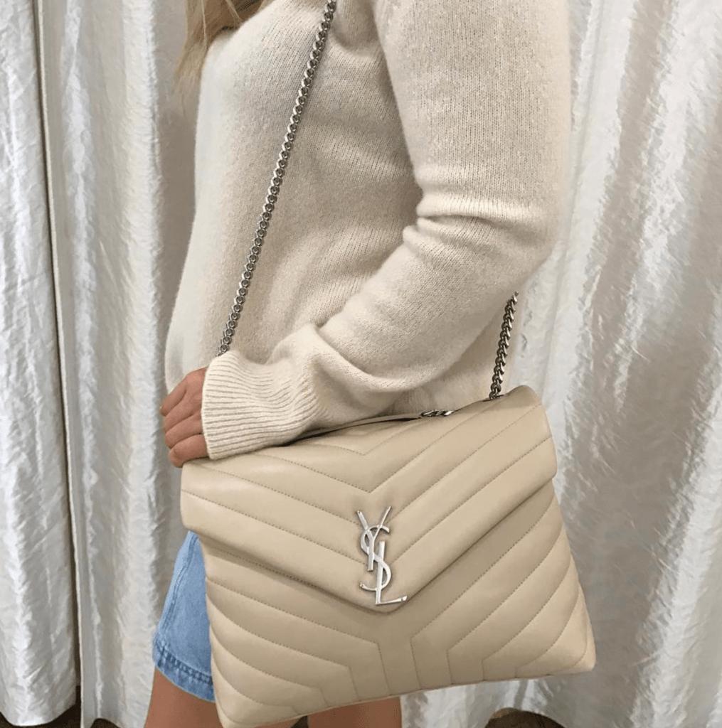 9f127f8eae1 YSL Yves Saint Laurent Loulou Monogram Mini V-Flap Calf Leather Crossbody  Bag luxury handbag
