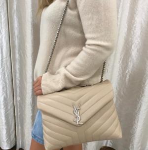 YSL Yves Saint Laurent Loulou Monogram Mini V-Flap Calf Leather Crossbody Bag luxury handbag